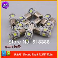 10 Pcs car light source 12V DC Supply BA9S 5050-5 led car interior lamp lighting white bulb led light car parking light