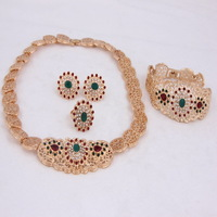 2014 New African Beads Jewelry Sets For Women Wedding Accessories Gold Plated Rhinestone Jewelry Sets