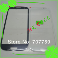 i9300 glass lens Outer Glass lens touch Screen for Samsung Galaxy S3 S 3 i9300 10pcs/lot White/Black/Pink/Red/Blue