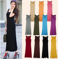 S M L XL the top 2013 new summer Europe and America Bohemian modal Beach long vest dress intimates women clothes 7 colors