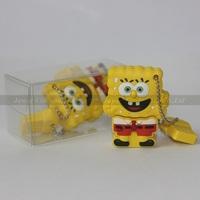 Lovely Cartoon SpongeBob USB Flash Drive 1GB/2GB/4GB/8GB/16GB,Fancy SpongeBob USB Flash Disk,Cartoon Style Flash Memory U Disk