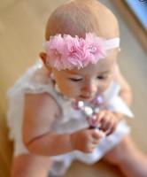 Princess Hair accessory Wholesale 20pcs/lot Bling Triple Tulle Pearl Rhinestone Mesh Flowers Headbands Hair accessory