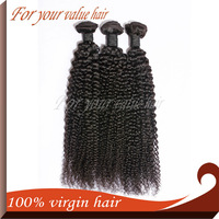 Unprocessed Free Shipping Virgin Brazilian Hair Machine Wefts Tight Kinky Curl Free Shipping 3 Bundles a lot Human Extensions