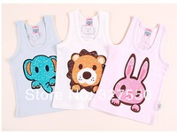 In stock! girls Summer Vest tops Shirts Soft Cotton baby girl  vests kids shirts children clothes BGB-127