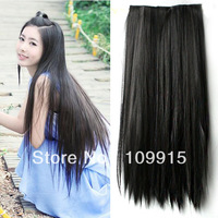 26 Inch Long Straight Hair One piece 5 clips in hair extensions Full head top 5 Colors  Dropshipping Freee*
