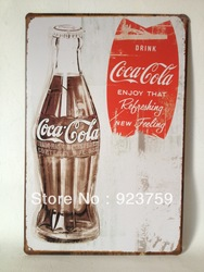 Accept mixed order!Coca cola paiting Tin Sign Bar pub home Wall Decor Retro Metal Art Poster(China (Mainland))