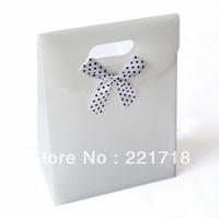 wholesale 12 Pcs/Lot Bow Jewelry Packaging Gift Bag White 120m*160mm*58mm free shipping