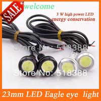 10pcs 3W  23mm LED White Eagle Eye Car Light  High Power  Car Daytime Running Light parking light Auto white bulb car led light