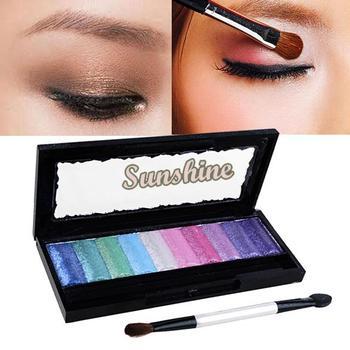 3pcs/Lot  10 Colors Baked Eyeshadow Palette Glitter Pro Cosmetics Makeup  Eye Shadow Pigment Set free shipping 4381