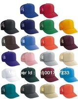 Unisex Classic Trucker Baseball Golf Mesh Cap Hat -16 Plain Colors