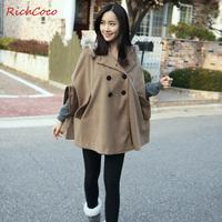 Fashion Casual Women Autumn Winter Coat Raccoon Fur Collar Wool Coat Woolen Thickening Coat Wholesale Retail Drop shipping C026