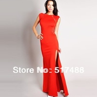 lace patchwork backless side slits slim party evening formal canonicals gowns cocktail dress women