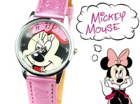 Free Ship HK Post Reloj Mickey Mouse Watches Children Cartoon Wristwatch Girls Cute Minnie Bowknot Clock Gift for Student TWC007