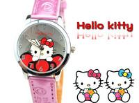 HK Post Free Shipping Girls Lovely Hello Kitty Wristwatch Children Cartoon Watches Quartz Clock Leather Strap,Child Reloj TWC011