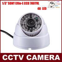 48 IR LED SONY CCD Effio 700TVL Indoor Security CCTV Camera With 3.6MM Lens OSD Menu Button 60ft IR Distance Security Camera
