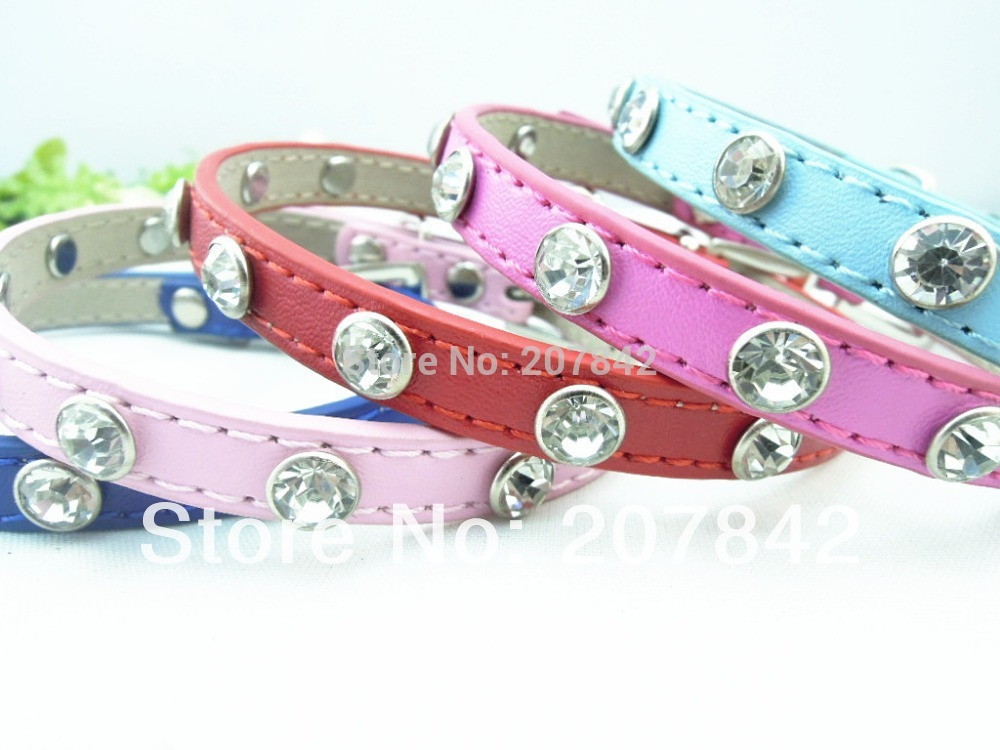 Free Shipping Rhinestone Dog Bone Fashion Croc Leather Dog Leash S /M /L(China (Mainland))