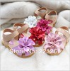 2013 New arrival Fashion baby sandals for girls  flower  Princess shoes kids summer sandals Free shipping 21-25(China (Mainland))