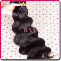 4pcs 1 lot can be dyed RXY beauty brazilian virgin human loose wave hair extensions weave natural color free shipping