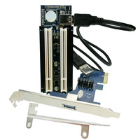 Free shipping  PCI-e x1 x4 x8 x16 to Dual PCI slots adapter, pci express to 2 pci card