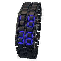 Free Shipping LED Metal Lava Iron Style Men Watch Gran venta de Reloj de cuarzo para caballero digital estilo Lava en acero