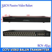 "32 channel UTP network balun video transceiver,high-density 19"",1U rack mount metal case, 3 years warranty,DS-UP321C"