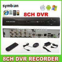 8Ch Standalone DVR Recorder H.264 CCTV Surveillance Security DVR smartphone view Multi-language support
