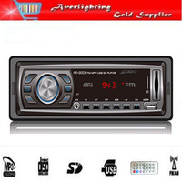 Fast shipping 1 DIN MP3 Player car radio/USB SD slot radio with remote control