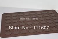 Free shipping hottest selling 48 holes LFGB/FDA standard DIY dessert macarons baking mat silicone baking tool