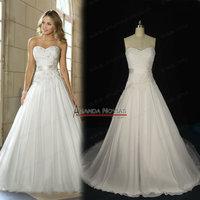 Latest Designer Sweetheart Neckline Chiffon Overlay Cheap Wedding Dress NS204