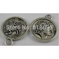 Tibetan Style Pendants,  Lead Free & Cadmium Free & Nickel Free,  Antique Silver Color