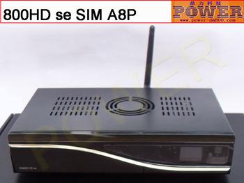 Free shipping digital satellite tv receiver dvb s2 dm 800 HD se 300M wifi bcm4505  tuner  simA8P sunray  800SE HD se Enigma2