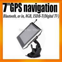 """Distrubute 7""""HD Car GPS Navigation+ISDB-T+Digital TV+Bluetooth+AV IN+FMT+8GB Card +800X480"""
