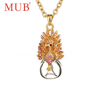 2013 Newest 18K Gold Plated Fashion Ladies Rhinestone Pendant Necklace With Perfume Bottle Wholesale Jewelry Free Shipping