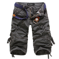 free shipping 2013 summer new arrival mens casual cargo shorts Black Yellow Army green Coffee 30-44 C1324