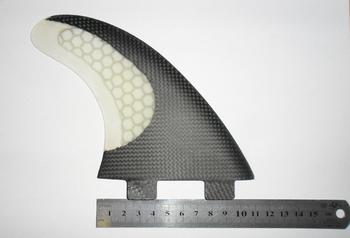 Surfboard Fiberglass Honey Comb & Half Carbon Fiber FCS 3 fin set