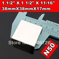 Free Shipping 2PCS/LOT, craft super strong rare earth Powerful N50 NdFeB magnet Neodymium permanent Magnets F38x38x17mm