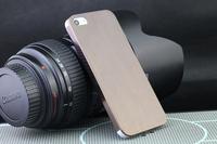 free ship 0.3mm Ultrathin mesh brushed Aviation alufer Aluminum Titanium steel Luxury hard case back cover for  iphone5 5G 5S