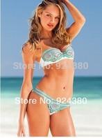 hot trend vintage floral print bikini set in white background colorful flower S M L