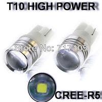 2Pcs/lot White T10/T15 168 W5W 921 912 906 LED Cree R5 7W LED Reverse Backup Light Bulbs Clearance  Marker DOOR Lights 6000K