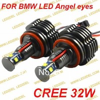 H8 32W LED Angel Eyes High quality CREE LED Marker Upgrade Bulbs Lamp Light for BMW X5 E82 E87 E70 E92 E93