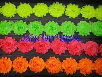 "42colors DHL Free shipping 120yds 2.5""shabby chiffon rose trim,chiffon frayed flowers,hair accessories"