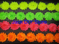 "42colors DHL Free shipping 120yds 2.5""shabby chiffon rose trim,chiffon frayed flowers,hair accessories"