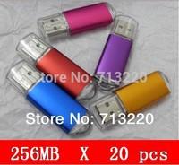Bulk Price 20pcs sell 256MB Promotions BestGifts NO Upgrade USB Flash Drive U Disk exporter 128mb /512mb Thumb Stick