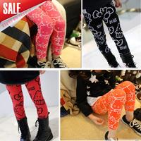 5pcs/1lot  2014 New Girls cartoon hello kitty leggings kids candy color legging baby girl lovely pants, Fashion leggings A038