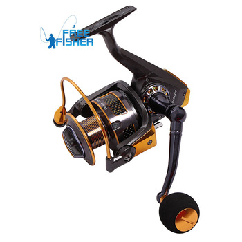 New High Power Gear Spinning Spool Fishing Fish Reel Aluminum GA2000