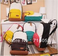 FREE SHIPPING fashion school bag for girls korea college bags Canvas Backpack travel shoulder bag 7 colors