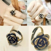 Wholesale! Rose rings fashion retro rings small jewelry wholesale!