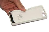 2200mAh Carregador De Bateria Portatil Plastic Silicon Frame Case for iPhone 5 5S 5th Backup Battery Case Power Case PC TPU