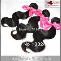 DHL Free Shipping 100% Brazillian body wave hair 3pcs lot Unprocessed extension cheap weave 6A Queen virgin hair