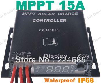 15A MPPT Solar Battery Charge Controller 12V 24V Waterproof Timer IP68  200W(12Vsystem)  400W(24Vsystem)